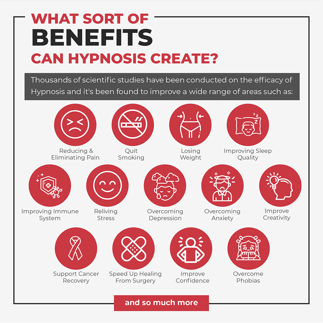 What sort of benefits can hypnosis create image