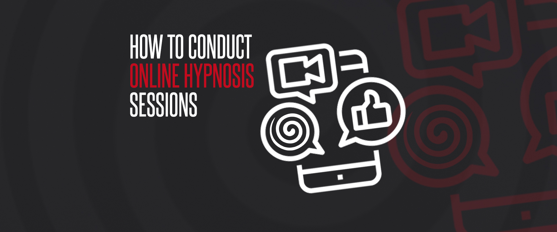 How to conduct online hypnosis sessions banner